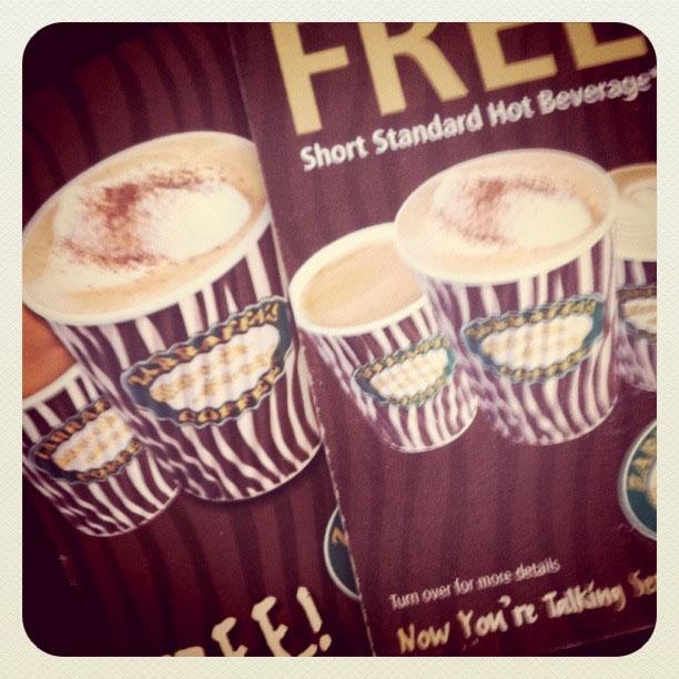 Free Coffee Cards from Zarraffa's Coffee