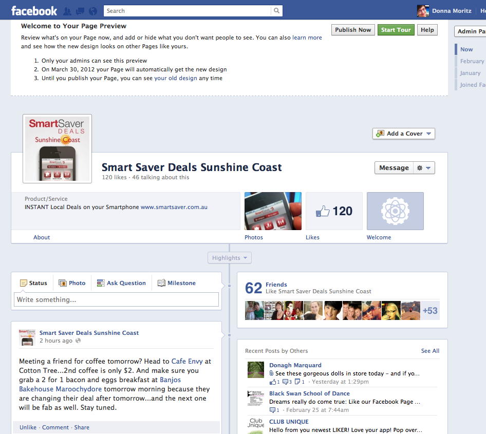 facebook page preview