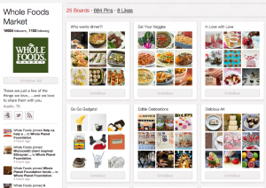 Whole Foods Market are doing it well on Pinterest