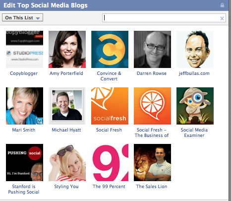 Top Blogs (Social Media)