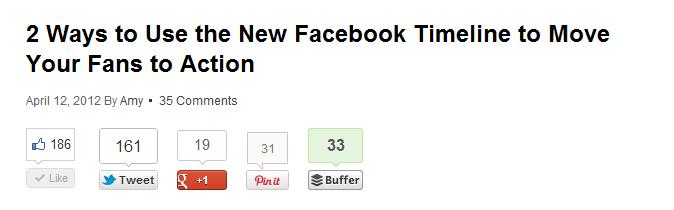 Buffer Share Icon on Blog