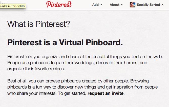 A description about Pinterest from Pinterest