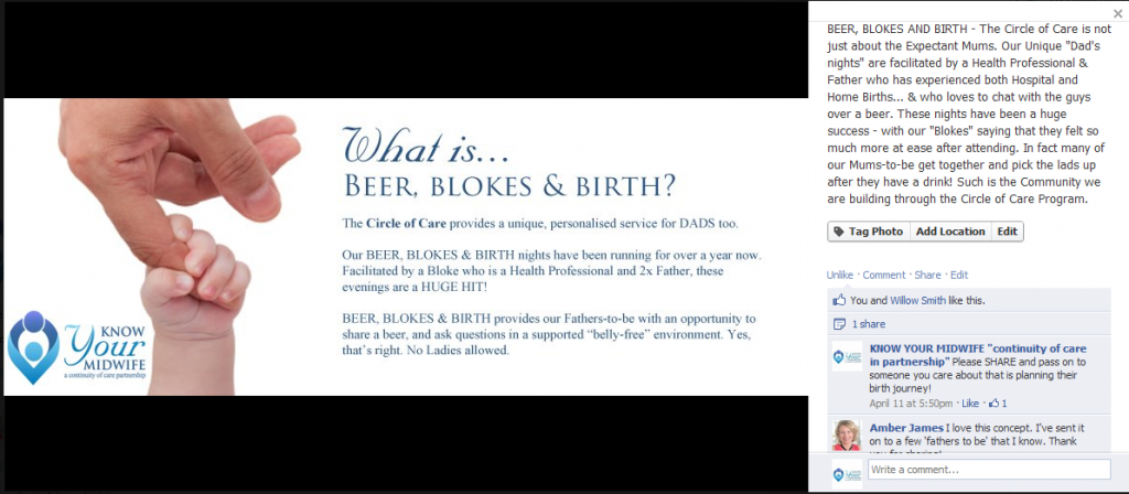 Beer, Blokes and Birth