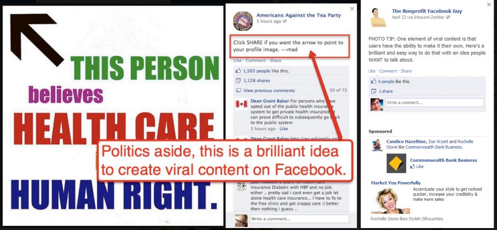 Facebook Image example Nonprofit Facebook guy