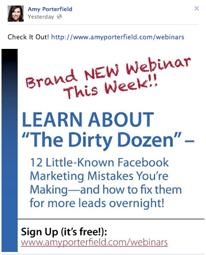 Webinar Pinned Post by Amy Portfield