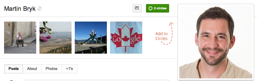 Visual Marketing - Google + - Call to action example