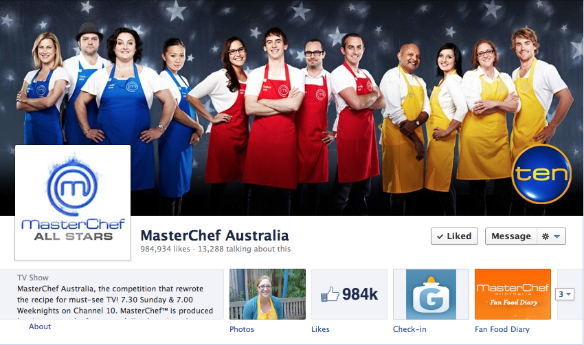 Masterchef Facebook Page (Channel 10)