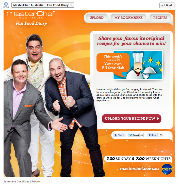 MasterChef Australia Food Diary Competition App
