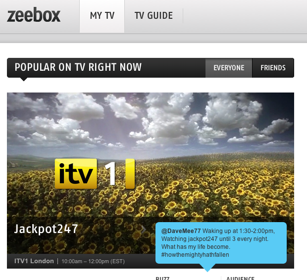 Channel 10 partners with Zeebox
