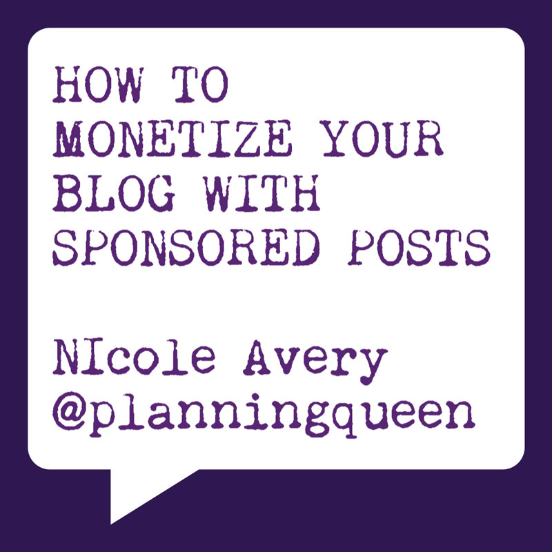 Problogger Training Event 2012 | How to Monetize Your Blog with Sponsored Posts | Nicole Avery | Socially Sorted