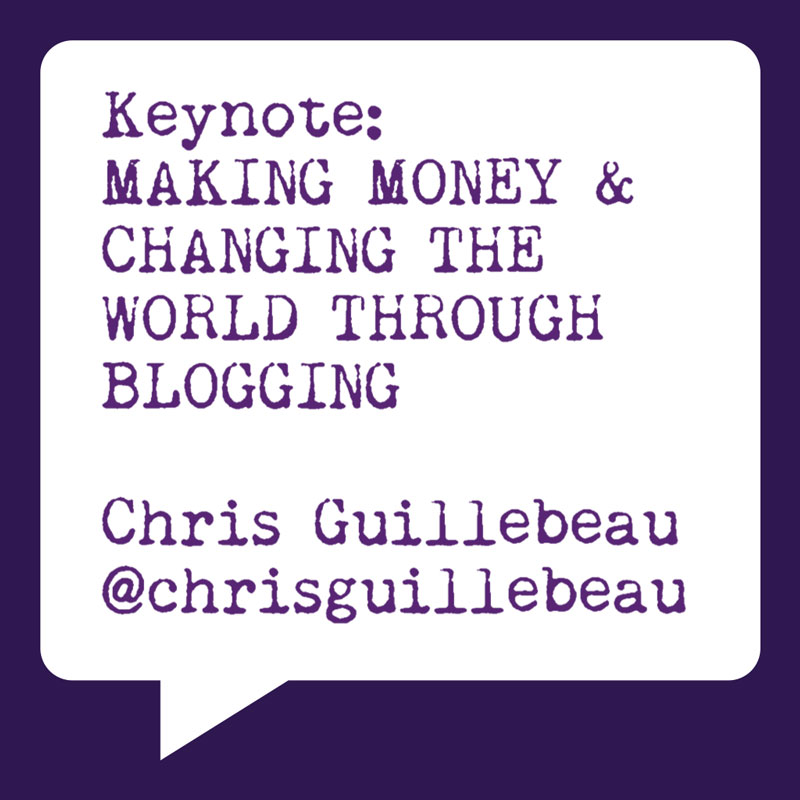Problogger Training Event 2012 | Chris Guillebeau | Making Money and Changing the world through Blogging | Socially Sorted