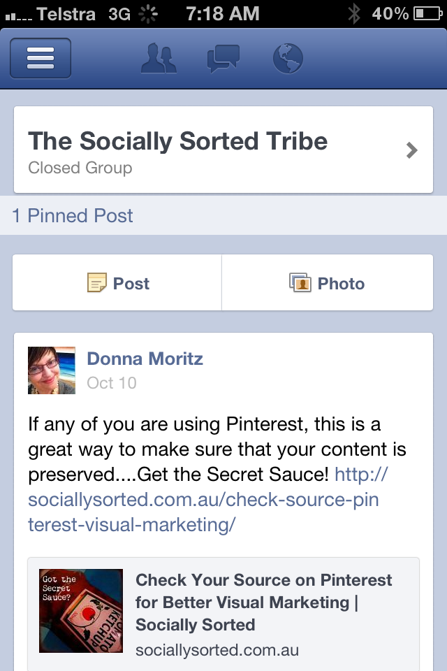 Facebook Group Tools | Socially Sorted | iPhone screenshot