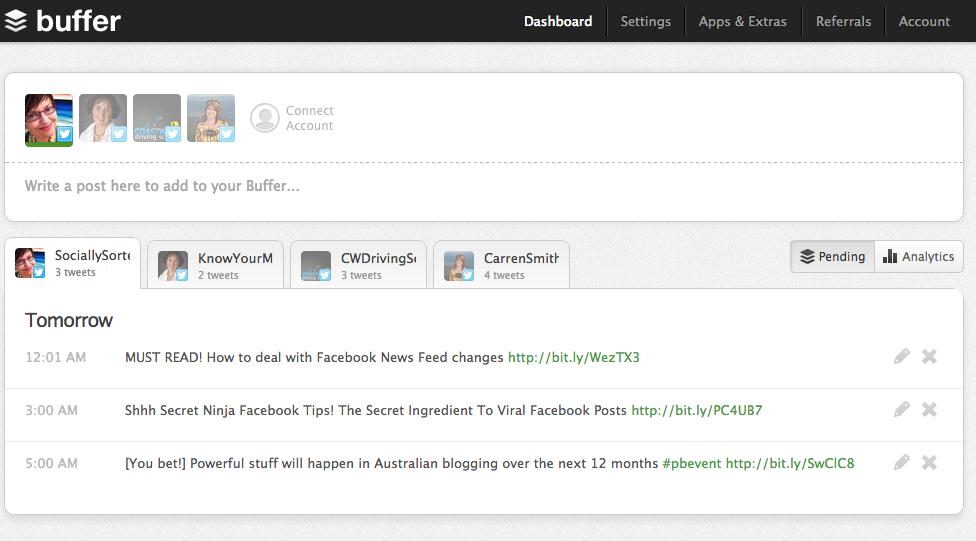 Buffer | Feeddler | Social Media | App | Socially Sorted