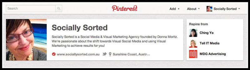 The Tick of Approval for Verification on Pinterest