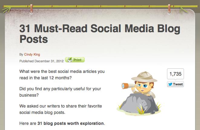 Social Media Examiner | 31 Must-Read Blog Posts