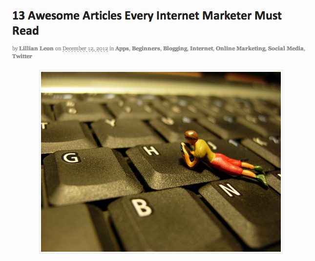 13 Awesome Articles | Online Marketing Rookie