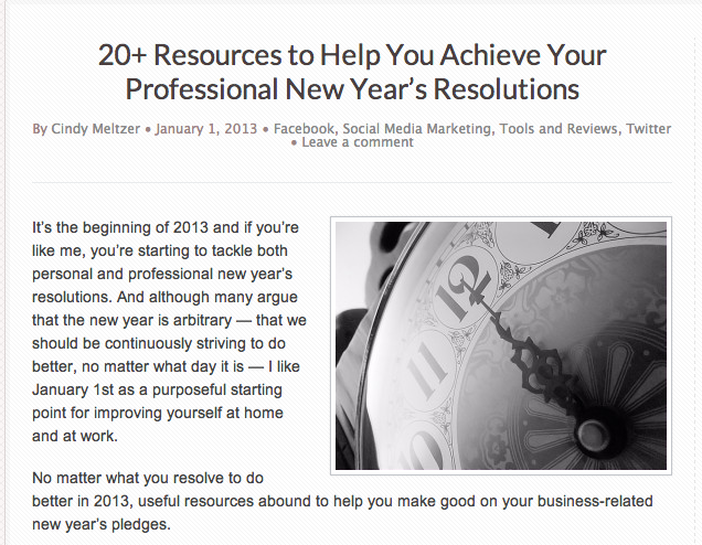 20+ Resources to Help You Achieve your Professional New Year's Resolutions