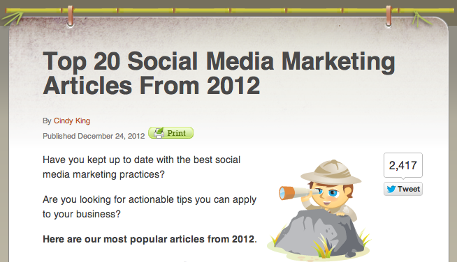 Top 20 Social Media Blogs 2012