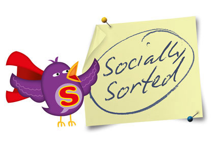 Socially Sorted - Bird and PostIt Note - Logo
