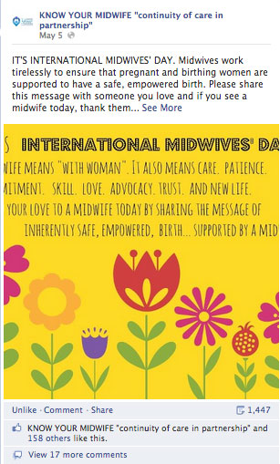 Know Your Midwife image for International Midwives' Day