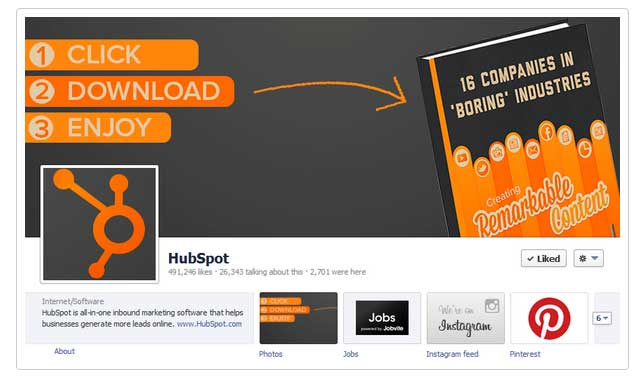 HubSpot Facebook Timeline Cover Photo