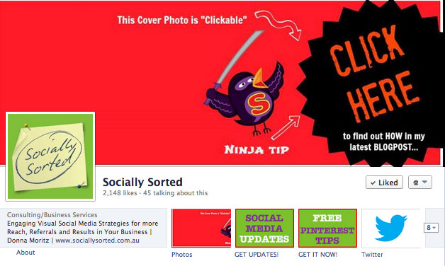 Socially Sorted new Timeline Cover Photo - Ninja