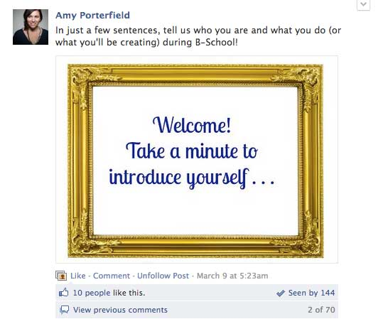 Using Images on Facebook - Amy Porterfield Group