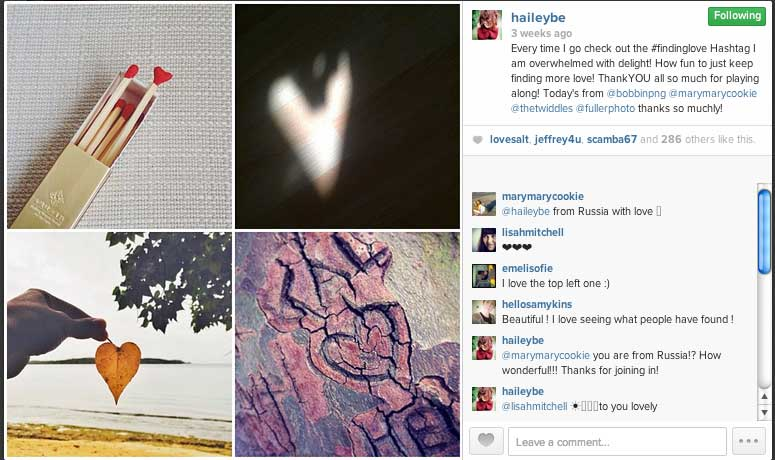 Finding Love - Hailey Bartholomew Heart Project - Instagram - 4 Words You Need to Know