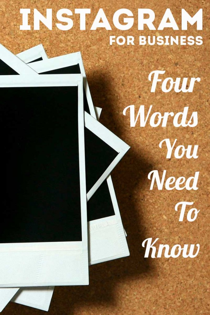 Instagram for Business - 4 Words You Need to Know www.sociallysorted.com.au