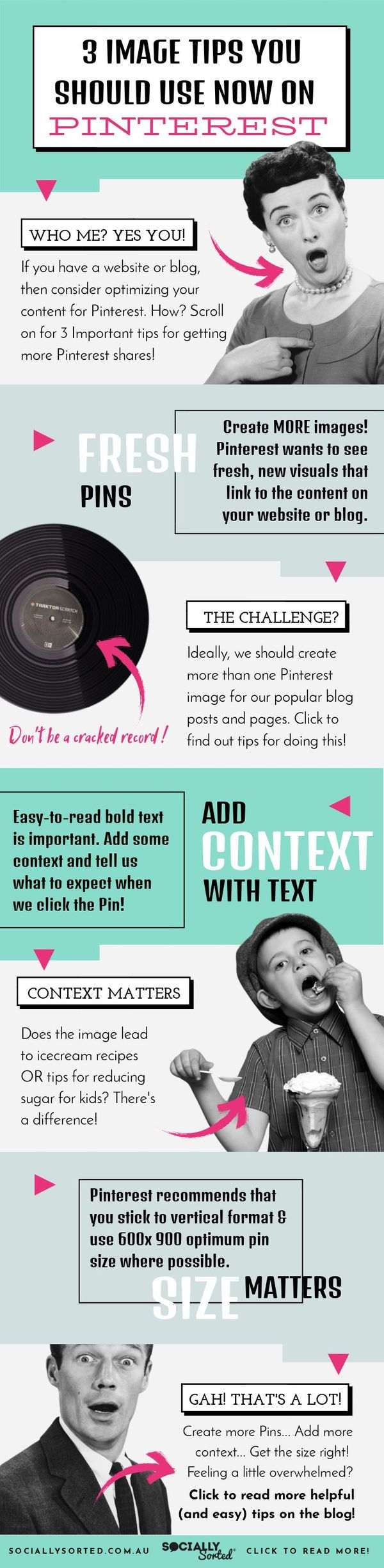3 Image Tips You Should Use Right Now on Pinterest - Infographic