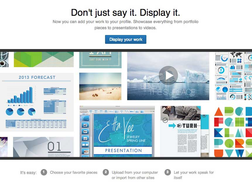 5 Ways to Visually Enhance Your LinkedIn Profile using Professional Portfolio - Don't Just Say it Display It