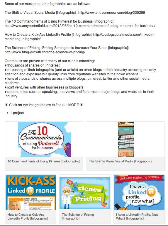 Infographics showcased on LinkedIn Profile - Donna Moritz - www.sociallysorted.com.au