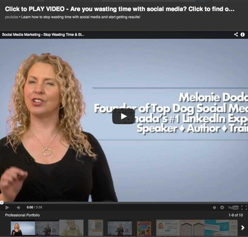 Expanded video of Melonie Dodaro on LinkedIn