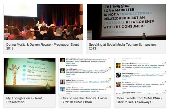 Testimonial and Presenting Screenshots on LInkedIn Profile - Donna Moritz www.sociallysorted.com.au