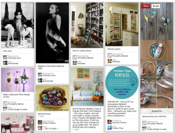 Round Image in the Pinterest Newsfeed