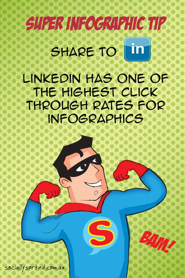 Super Infographic Tip - Share to LinkedIn