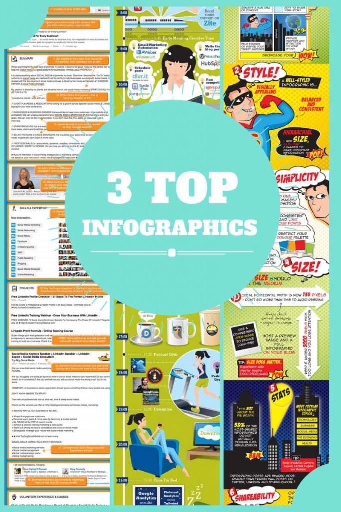 Social Media Infographics - 3 Top Performers 2013