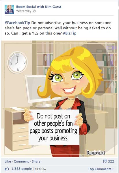 Social Media Tip Image by Kim Garst