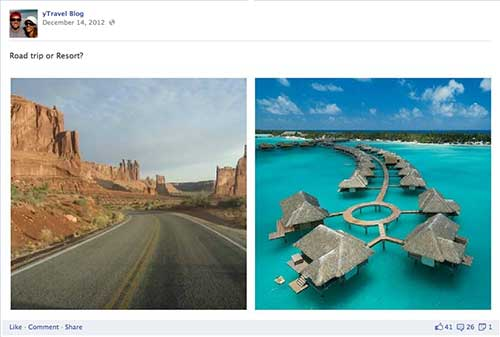 Y Travel Blog Engagement Image - Road Trip or Resort