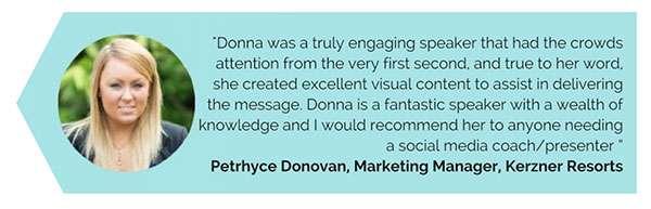 Testimonial, Donna Moritz, Keynote Speaker