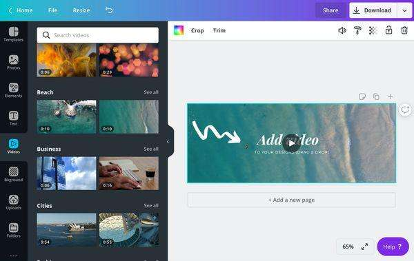Canva app - how to use Canva video