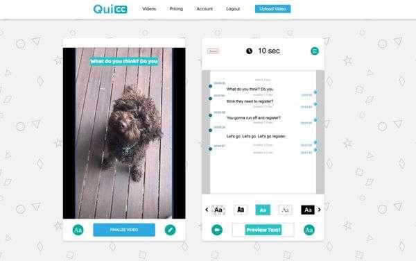 Quicc screen capture tool - demonstration screenshot