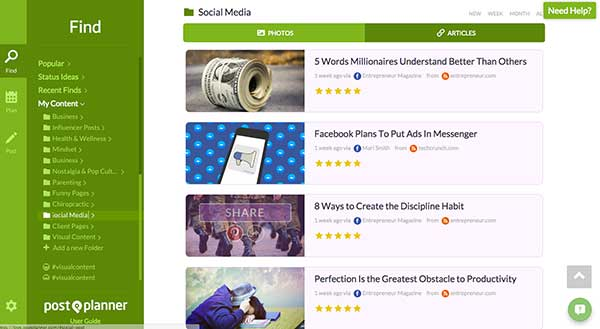 Postplanner's FIND, PLAN, POST Function: 50 Shortcuts to Create Visual Content for Social Media