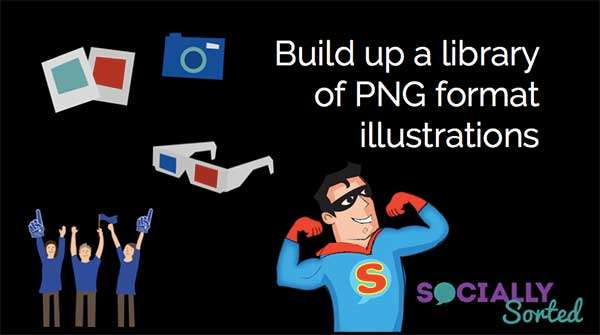 Examples of PNG files - 50 Shortcuts to Create Visual Content for Social Media