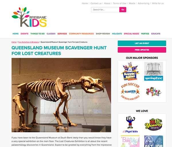 Brisbane Kids got creative with Queensland Museum
