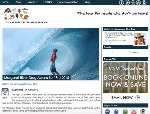 How to use blogging to stand out - with Margaret River Discovery Company