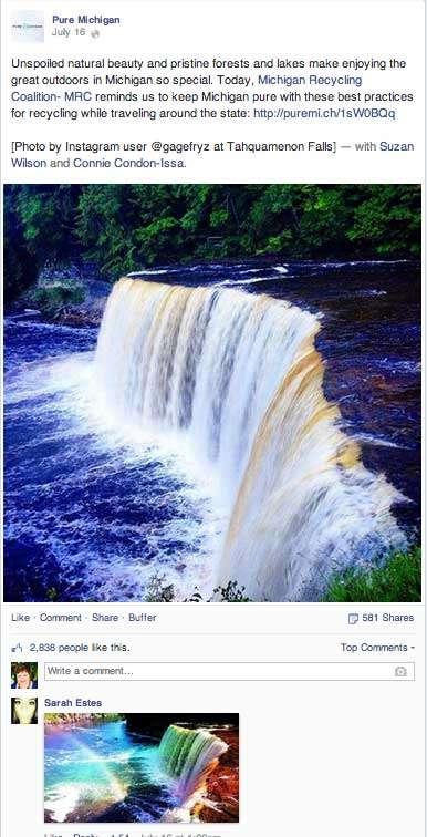 Pure Michigan Waterfalls