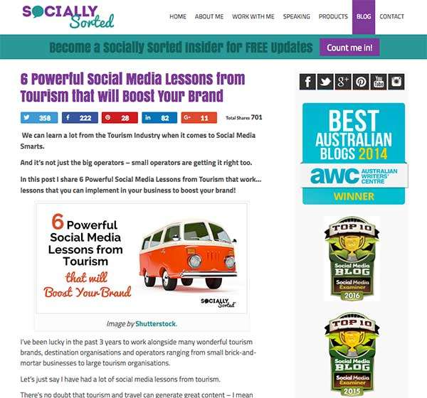Example of a landscape image on the Socially Sorted blog - 7 Ways to Effortlessly Drive More Blog Readers with Visuals