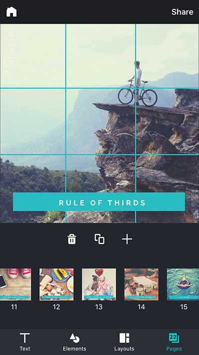 Canva for iPhone - Multiple Image Series example