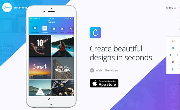 Canva for iPhone has been released in the app store!